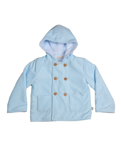 Baby Gi AW21 Boys Blue Parka With Hood BG91A