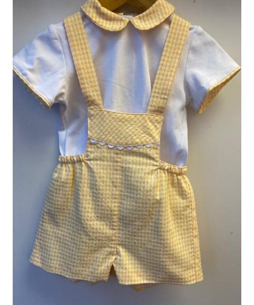 Miranda SS20 White and Yellow Boy Shirt and Shorts