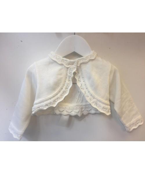 Pretty Originals Girls Cream Back Bow Cardigan JP05130