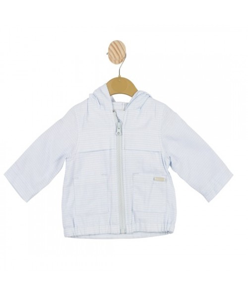 Mintini Baby Boys Blue Striped Jacket MB3415