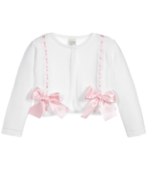 93d5b2fad Pretty Originals Girls Cream With Pink Bow