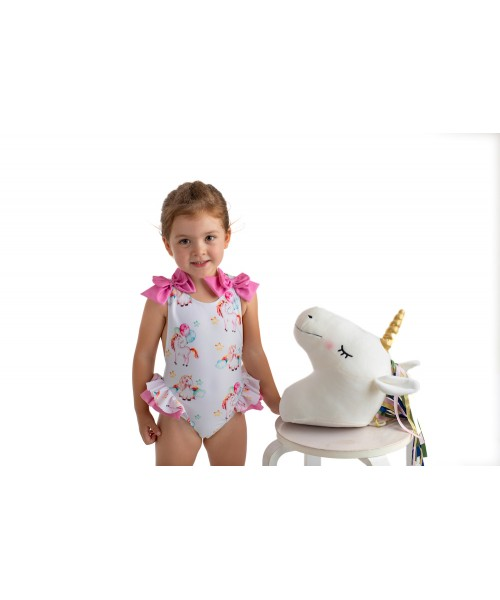 Meia Pata SS21 Girls Unicorn Swimsuit MENORCA