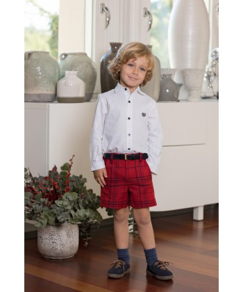 Dolce Petit AW19 Boys Red Tartan Short Set 2221-3