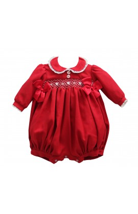 44159887a Pretty Originals AW19 Red Smocked Romper MT947