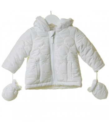 Blues Baby Unisex White Hooded Jacket TT0007