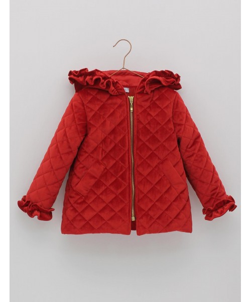 Foque AW19 Girls Red Quilted Jacket  1926060