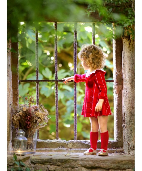 Foque AW19 Girls Red Dress 1925109