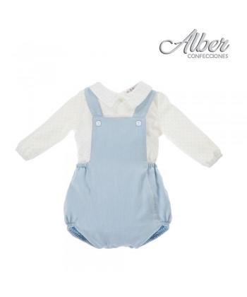 Alber AW20 Boys Blue Romper 3866
