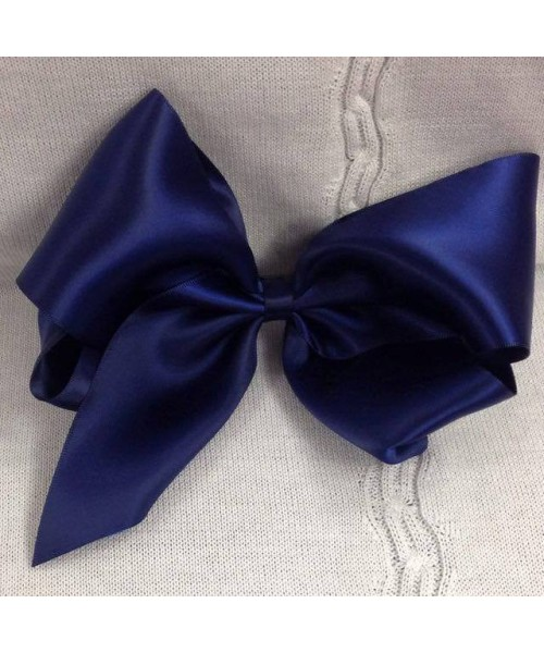 Girls XL navy satin 7 inch bow