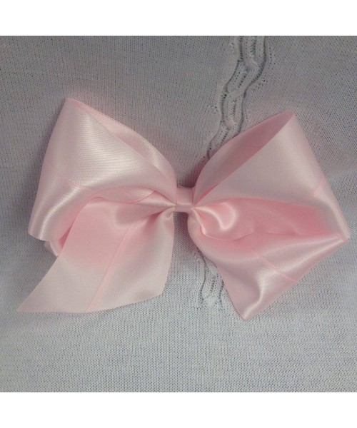 Girls XL pink satin 7 inch bow