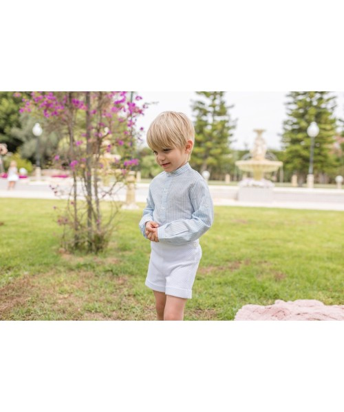Dolce Petit SS20 Boys Blue & White Short Set 2226-23