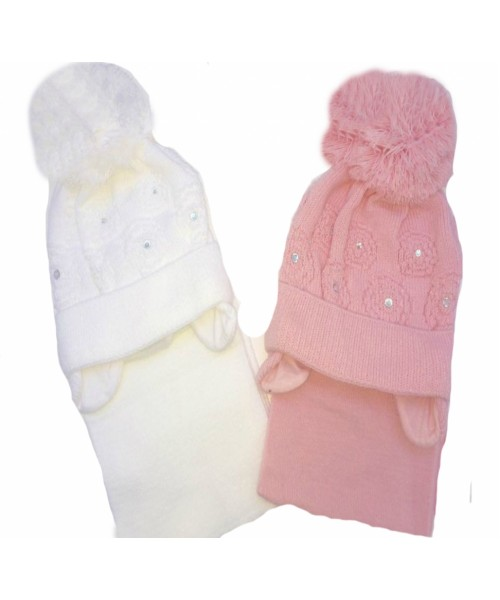 Girls Knitted Hat & Scarf Set