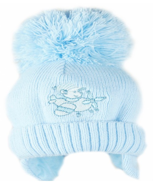Blue Knitted Aeroplane Hat