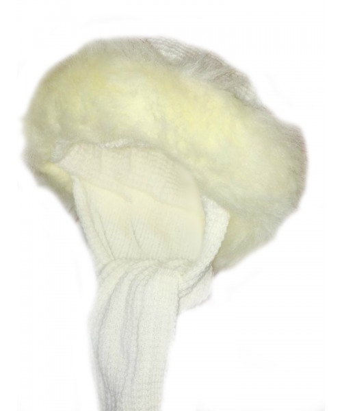 Cream Knitted Russian Hat