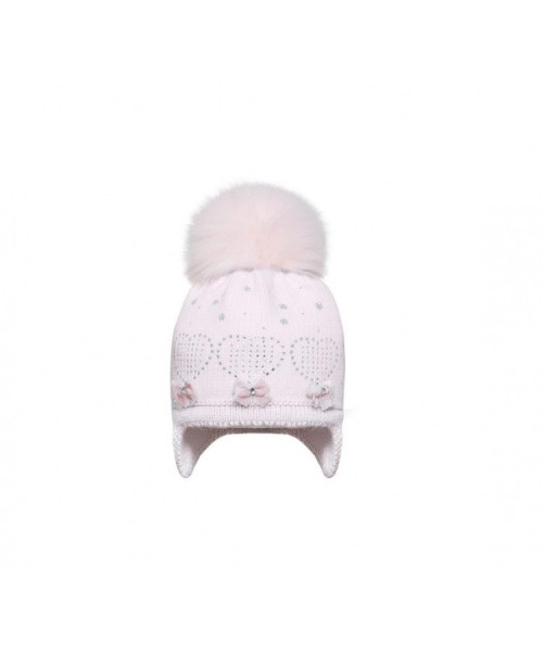 Girls Knitted Hat With Silver or Gold