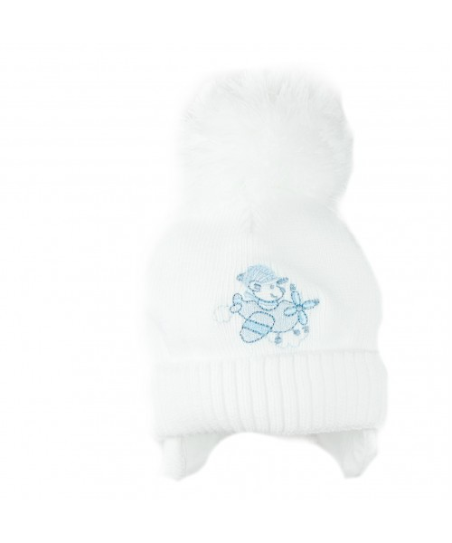 White Knitted Aeroplane Hat
