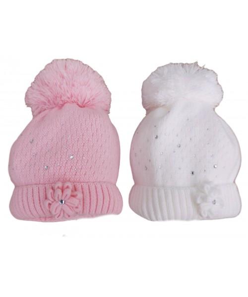Girls Knitted Pom Pom Hat