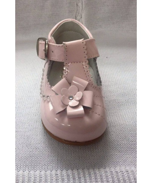 Pretty Originals Girls Pink Patent Shoes
