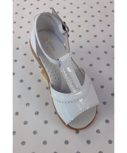 Pretty Originals White Glitter Sandal
