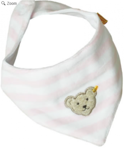 Steiff Pink/White Neckerchief 0002870