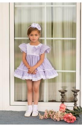 d676d1eaa Dolce Petit SS19 Girls Stripe Puffball Dress 2233-V
