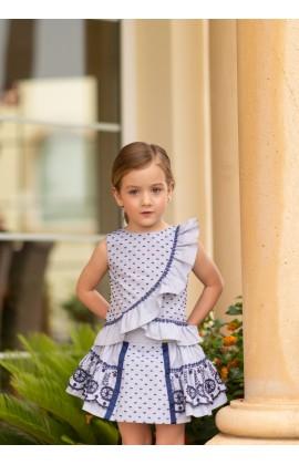 7021ae70b Dolce Petit SS19 Girls Navy Lace Skirt Set 2240-23