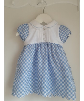 Dr Kid Blue And White Dress With Matching Pants