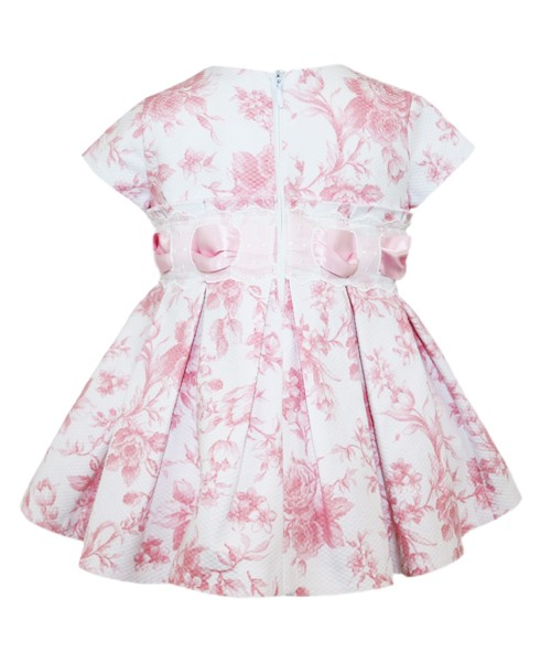 Abella Girls Baby Pink Floral Print Dress & Pants 9029