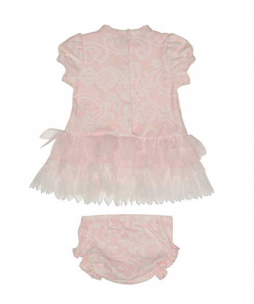 Kate Mack Baby Girls Dress & Bloomer Tulle Detail 314