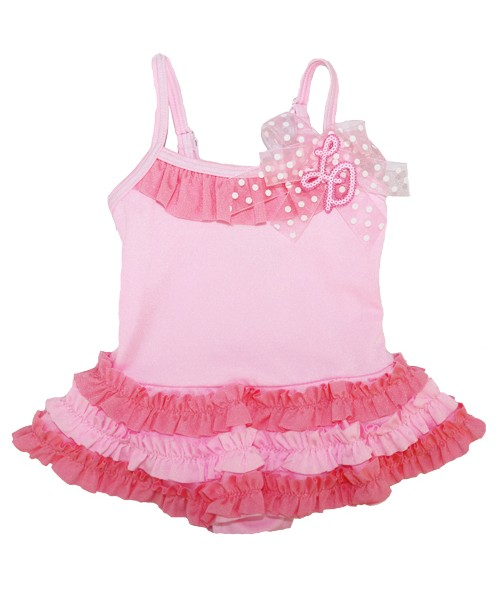 Little Darlings Pink Candy Flowers Swimsuit 4040