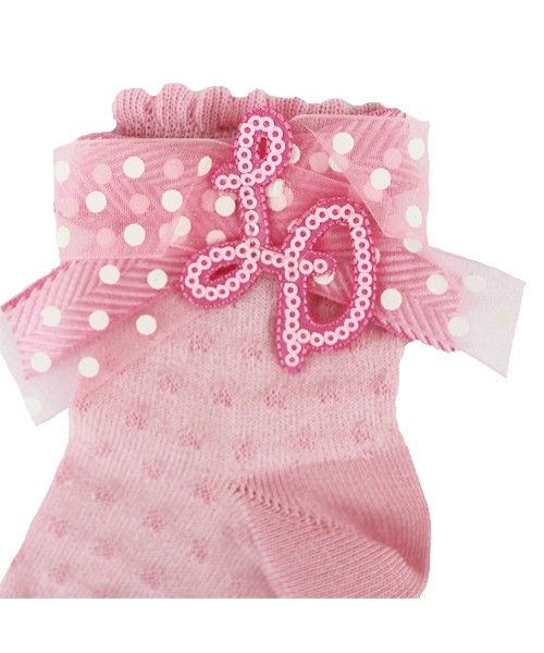 Little Darlings Candy Flowers Pink Sock 4042