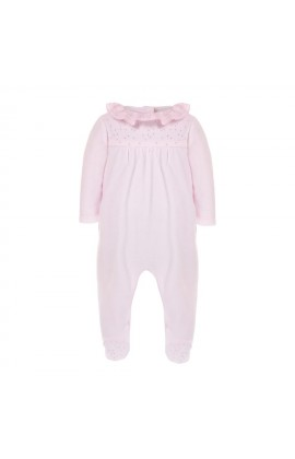 dfda7922a57a Patachou Pink Velour Romper With Crystals