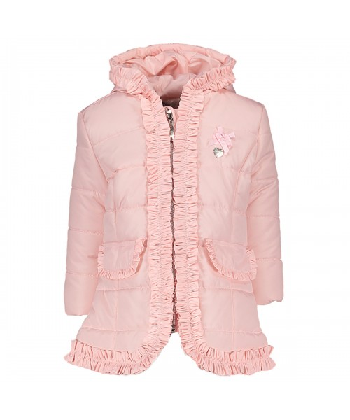 Le Chic Baby Girl Pink Jacket Ruffle Detail (picture for style only)