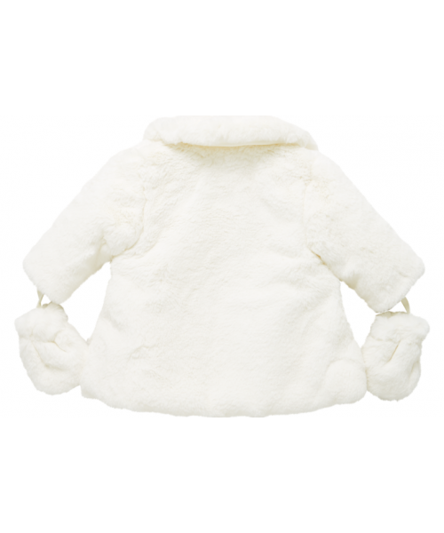 Little Darlings Cream Fur Coat Rosie Glow