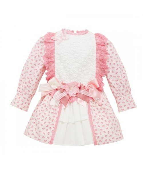 Little Darlings Dress Pink Ditsy Print Rosie Glow