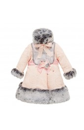 Little Darlings Coat With Fur Feeling Peachy