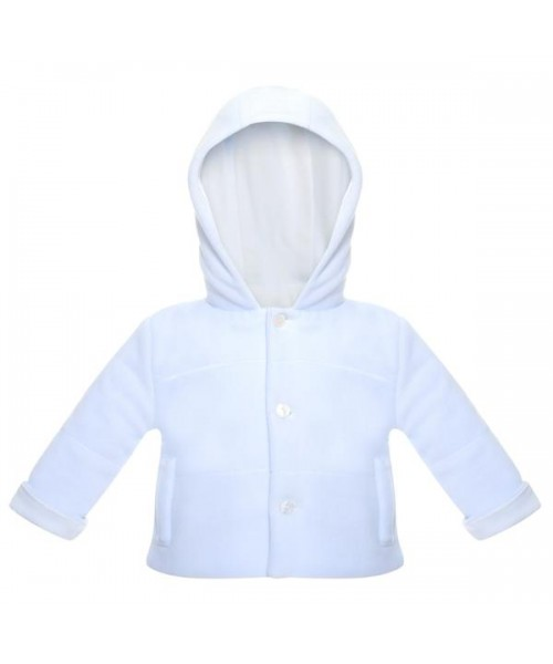 Patachou Unisex Velour Baby White Jacket (Picture for style only)