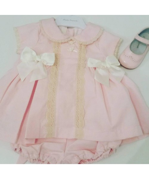 Pretty Originals Girls Pink & Cream Dress with Pants MB10651
