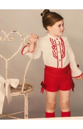 Dolce Petit Shirt and Red Shorts Set 2126-23