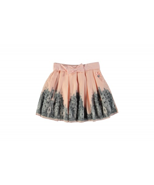 Le Chic Pink Skirt With Bow